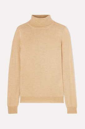 Etro Metallic Wool-blend Turtleneck Sweater - Gold
