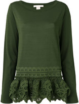 Antonio Berardi embroidered hem blouse