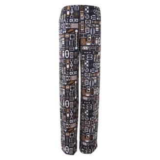 Hermes Blue Silk Trousers