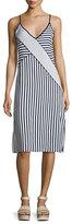 Splendid Boardwalk Stripe Sleeveless Midi Dress, Navy