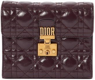 Christian Dior Purple Patent leather Clutch bags