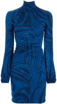 Emilio Pucci printed polo neck dress
