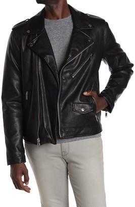 DKNY Faux Leather Moto Jacket