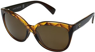 Kaenon Lina (Amber Crystal/Brown 12 Polarized) Sport Sunglasses
