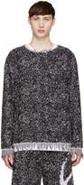 Haal Black & Purple Gisele Towelling Sweater