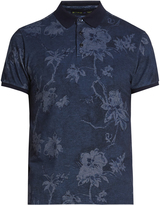 Etro Floral-print cotton-piqué polo shirt