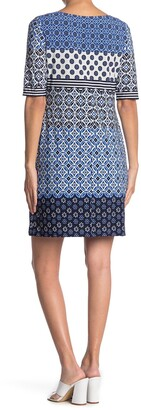 Eliza J Tile Printed Mini Dress