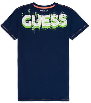 GUESS JULIEN boys's T shirt in Blue