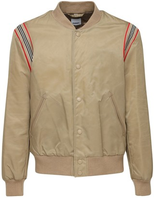 Burberry Heritage Stripe Tech Bomber Jacket