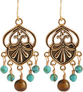 Barse FINE JEWELRY Art Smith by Turquoise & Tigers Eye Chandelier Earrings