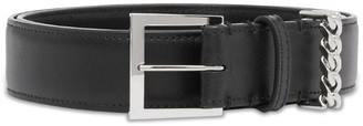 Burberry Leather Belt with Chain Loop