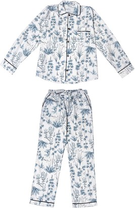 Phriya Men's Gray Circe's Garden Long Pajama Set