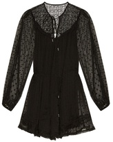 Zimmermann Belle Swiss-dot and lace playsuit