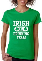 Allntrends Women's T Shirt Irish XL Drinking Team St Patrick's Day Shamrock (2XL, )