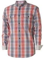 Royal Robbins Men's Vista Chill Long Sleeve Plaid Shirt - Crimson Long Sleeve Shirts