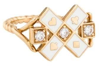 Alison Lou 14K Diamond & Enamel Mixed Suite Ring