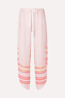 Lemlem + Net Sustain Eskedar Fly Away Striped Cotton-blend Gauze Pants - Pink