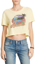 Denim & Supply Ralph Lauren Cropped Jersey Graphic Tee