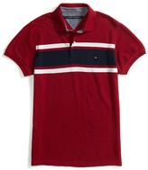 Tommy Hilfiger Custom Fit Srtiped Performance Polo