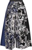 Tibi Printed silk culottes