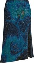 Issey Miyake Cosmos-print pleated midi skirt