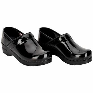 Sanita Professional Patent Closed Clog | Original Handmade Flexible Leather Clog for Women Size: 8 UK