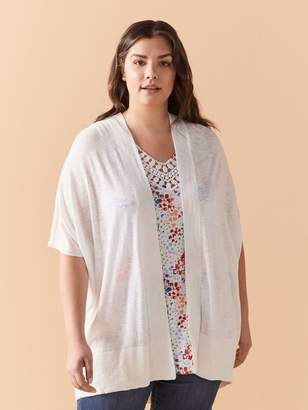 Long Solid Cardigan with Kimono Short Sleeves - In Every Story