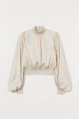 H&M Smocking-detail blouse