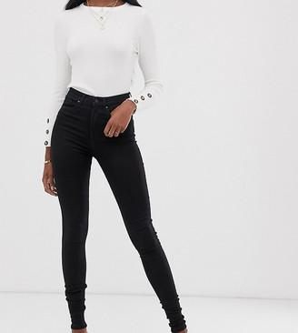 Vero Moda Tall skinny high rise jeans in black