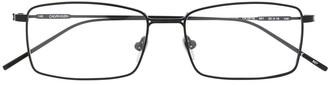 rectangular-frame logo glasses