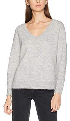 Selected Women's Sflivana Ls Knit V-Neck Noos Jumper, (Light Grey Melange), (Size: X-Small)