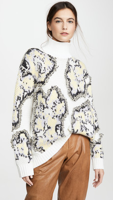 3.1 Phillip Lim Fil Coupe Abstract Daisy Sweater