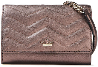 Kate Spade Metallic Quilted Pebbled-leather Shoulder Bag