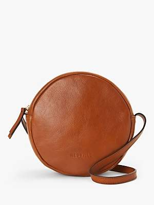 Neuville Rondo Leather Circle Cross Body Bag