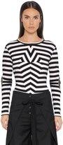 MM6 MAISON MARGIELA Striped Ribbed Cotton Jersey Sweater