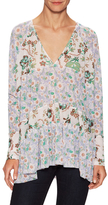 Free People Isabelle Printed V-Neck Tunic
