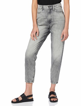 G Star Women's Janeh Ultra High Waist Mom Ankle Straight Jeans