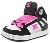 DC Rebound Se Round Toe Leather Skate Shoe.