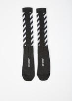 Off-White black striped shiny socks