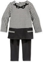 First Impressions Baby Girls' 2-Pc. Long-Sleeve Houndstooth Tunic & Leggings Set, Only at Macy's