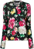 Dolce & Gabbana floral print fitted cardigan