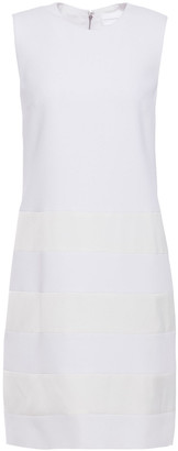 Victoria Victoria Beckham Satin Crepe-paneled Cady Mini Dress