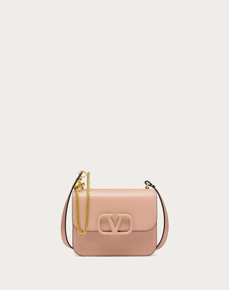 Valentino Small Vsling Smooth Calfskin Shoulder Bag Women Macaron Calfskin 100% OneSize
