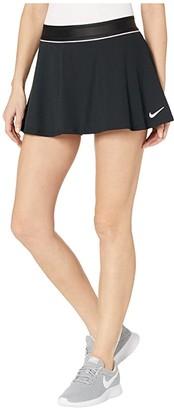 Nike Court Dry Skirt Flouncy (Black/White/White/White) Women's Skirt