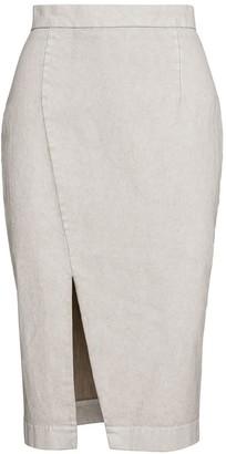 Conquista Cream Pencil Skirt In Sand