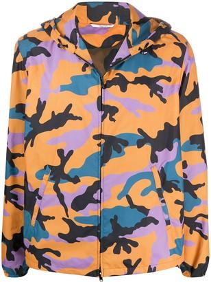 Valentino Camouflage Hooded Jacket