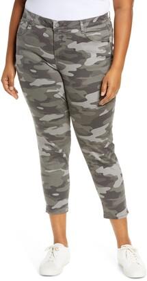 Wit & Wisdom Ab-Solution Camo High Waist Ankle Skinny Pants