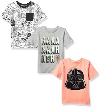 Spotted Zebra Disney Short Sleeve T-Shirts 3-Pack (Little Kids/Big Kids) (Star Wars Doodle) Girl's Clothing