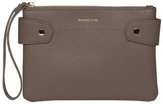 Mocha Clip Around Coin Wallet - Dark Taupe