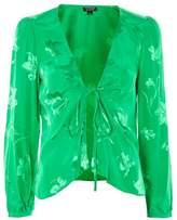 Topshop Jacquard bed blouse